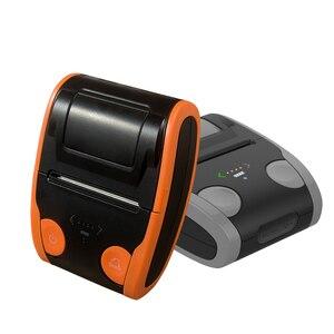 Image 2 - אנדרואיד IOS נייד תרמית תווית מדפסת מיני נייד 58mm ברקוד QR מדבקת נייר כיס Bluetooth מדפסת