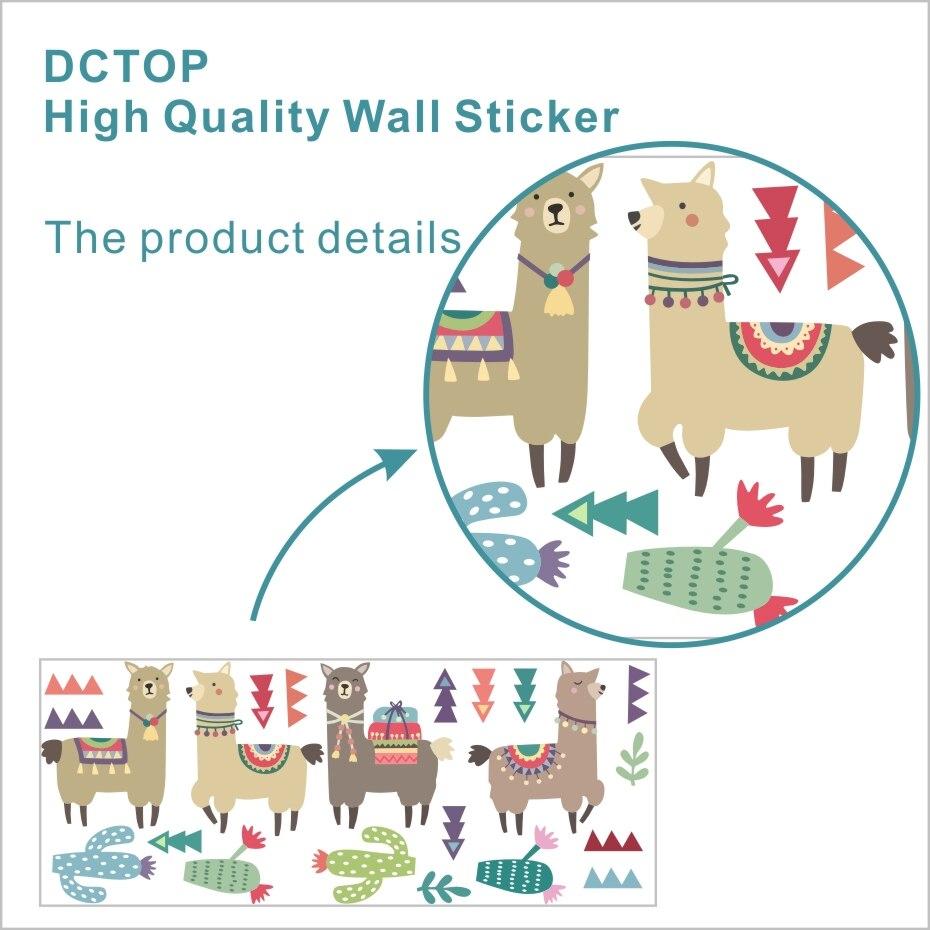 Cartoon Animals Indian Style Alpacas Wall Stickers  (2)