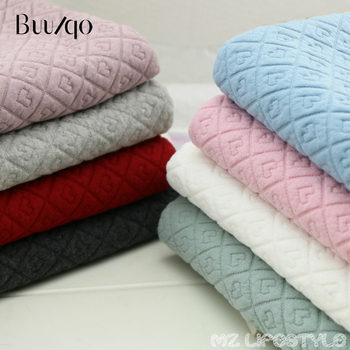 Buulqo  New arrival 50x155cm heart jacquard thickened cotton fabric by half meter DIY sewing warm clothing cotton fabric