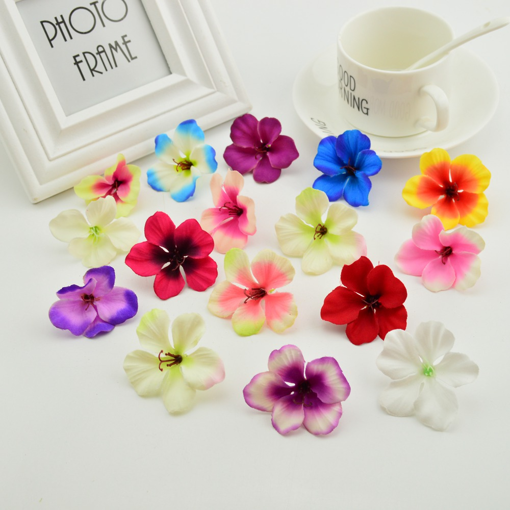 10pcs cheap artificial flowers Orchid for home wedding decoration accessories pompon diy wreath needlework Silk Cherry roses