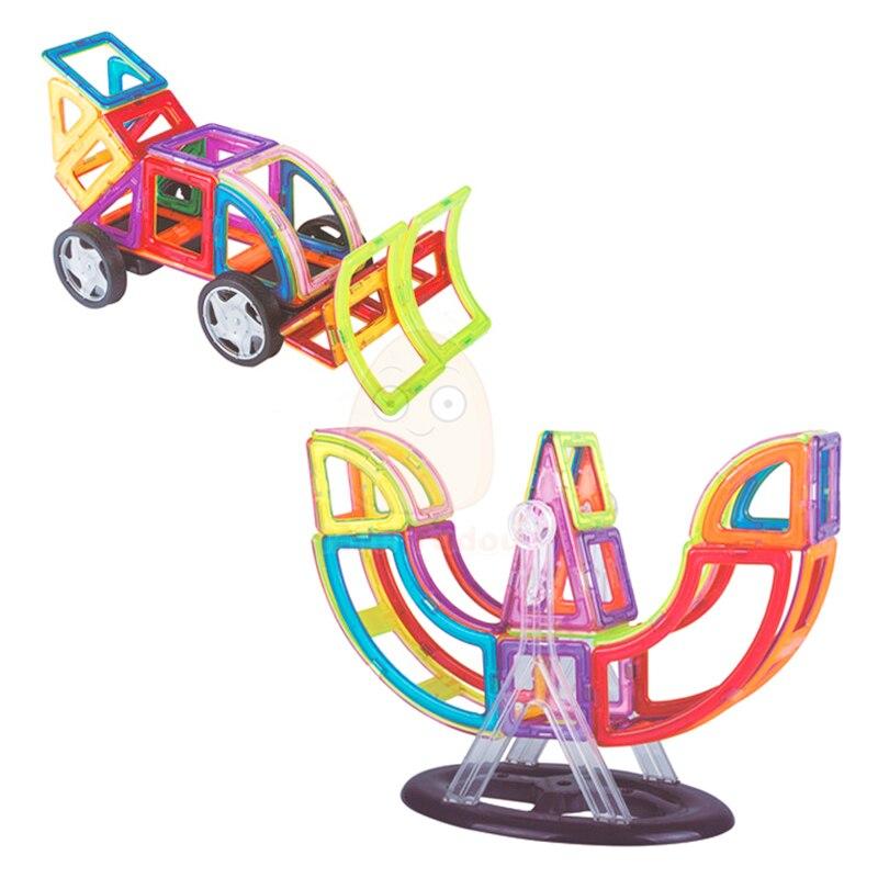 112 sztuk konstruktora magnetyczne klocki zabawki 3D DIY oświecić cegły edukacyjne dla dzieci z tworzywa sztucznego prezenty dla dzieci w Magnetyczne od Zabawki i hobby na  Grupa 3