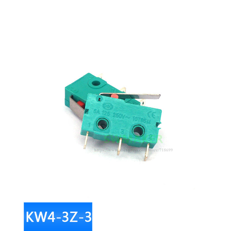 1pcs KW4-3Z-3 Straight Shank Micro Limit Switch SS-5GL 250V5A 3D Printer Accessories