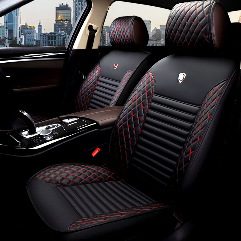 Black Leather Look Car Seat Covers Cover Set For Seat Toledo 2013 On