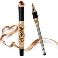 Высококачественная Роскошная шариковая ручка с драконом, винтажная, 0,7 мм, черная чернильная ручка для письма, деловой подарок для офиса