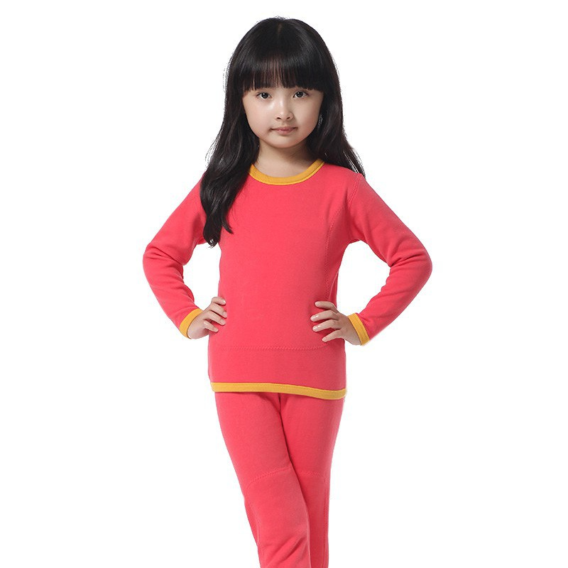 5d7a525d0 2pcs Kids Girls Boys Sleepwear Pajamas Sets Warm Thermal Underwear Robe Baby  Pajama Children Unisex Cotton Velvet Home Clothing