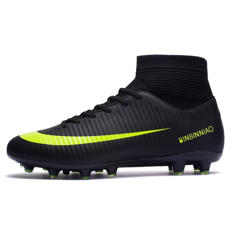 ZHENZU Soccer-Shoes Cleats Football-Boots Sport-Sneakers Boys Long-Spikes Outdoor Calcio