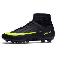 ZHENZU/уличные мужские футбольные бутсы для мальчиков; футбольные бутсы с длинными шипами; спортивные кроссовки; Размеры 35-44; scarpe da calcio