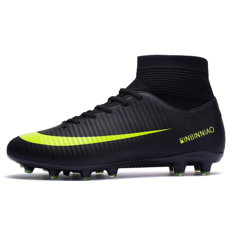 7782db870343 ZHENZU Outdoor Men Soccer Shoes Kids Boys Cleats Football Boots Long Spikes  Sport Sneakers Size 35-44 scarpe da calcio