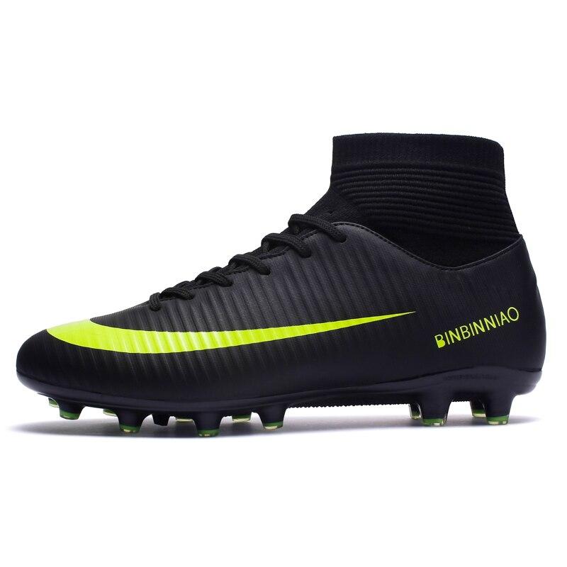 Zhenzu ao ar livre dos homens sapatos de futebol crianças meninos botas de futebol longo spikes esporte tênis tamanho 35-44 scarpe da calcio