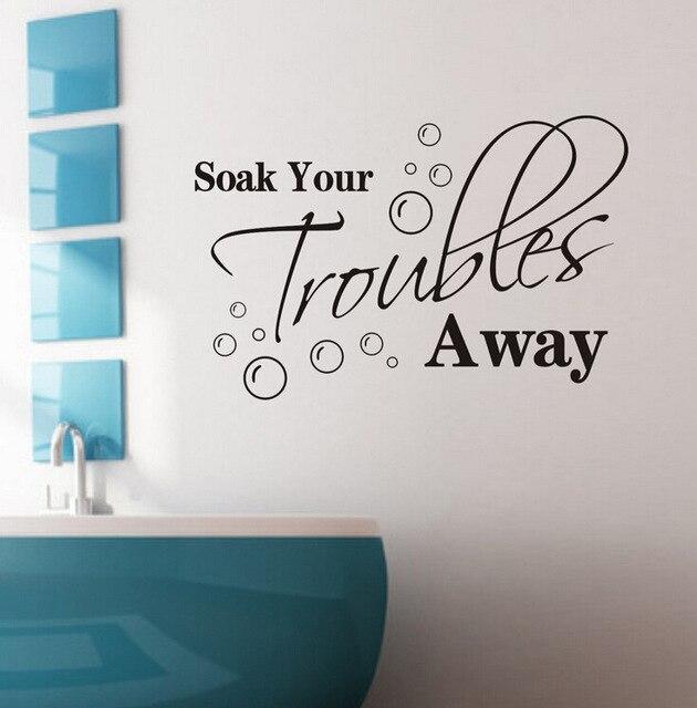 Engels spreuken gesneden muur art versiering muurstickers badkamer ...
