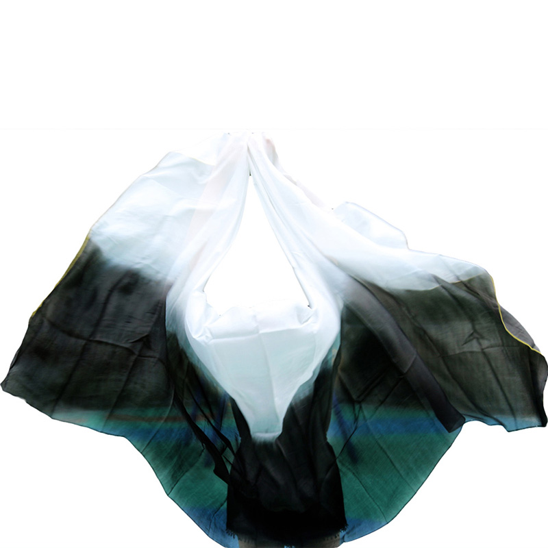 100% Silk Belly Dance Veils Shawl Scarf Dancing Practice Performance Silk Veils Wholesale Size And Color Can Be Customized