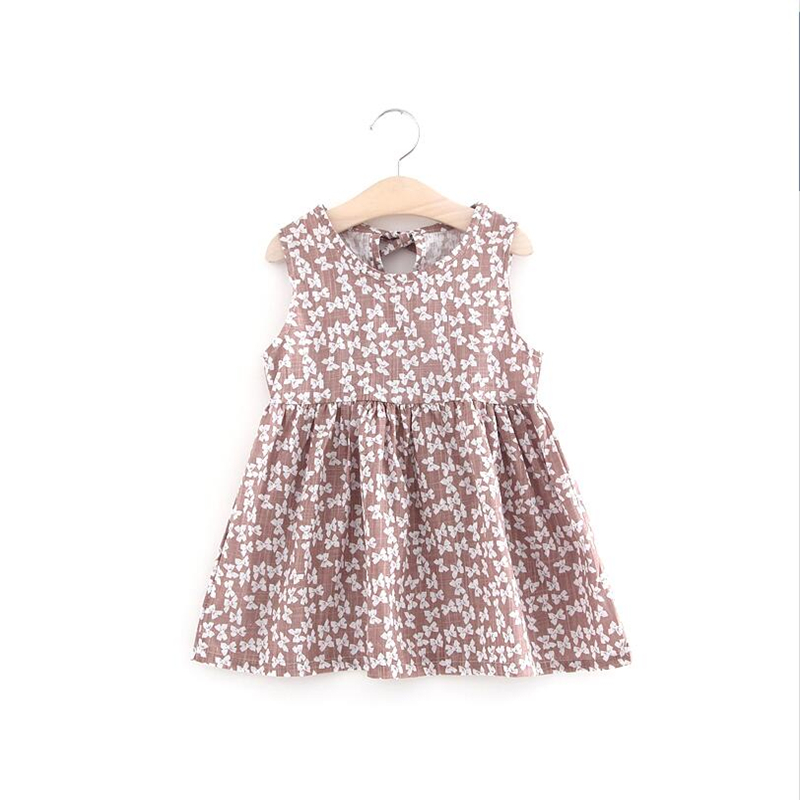 Hot Sale Chidren Floral Dress for Baby Girls Clothing Kids Princess Pattern Dresses for Wedding Party Infant Cotton Dress New