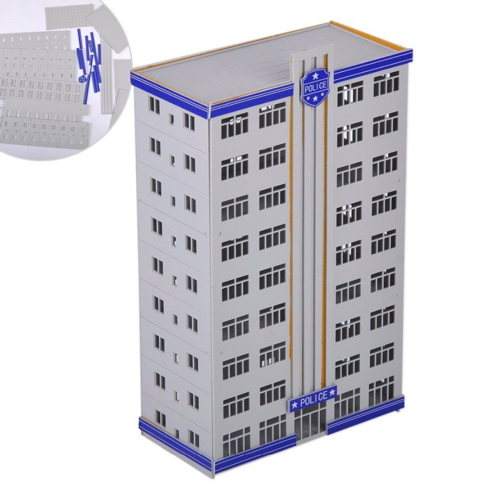1:150 N Scale Model Railway Police Department Headquarter Building Apartment Outland Building Police Staion Building Model1:150 N Scale Model Railway Police Department Headquarter Building Apartment Outland Building Police Staion Building Model