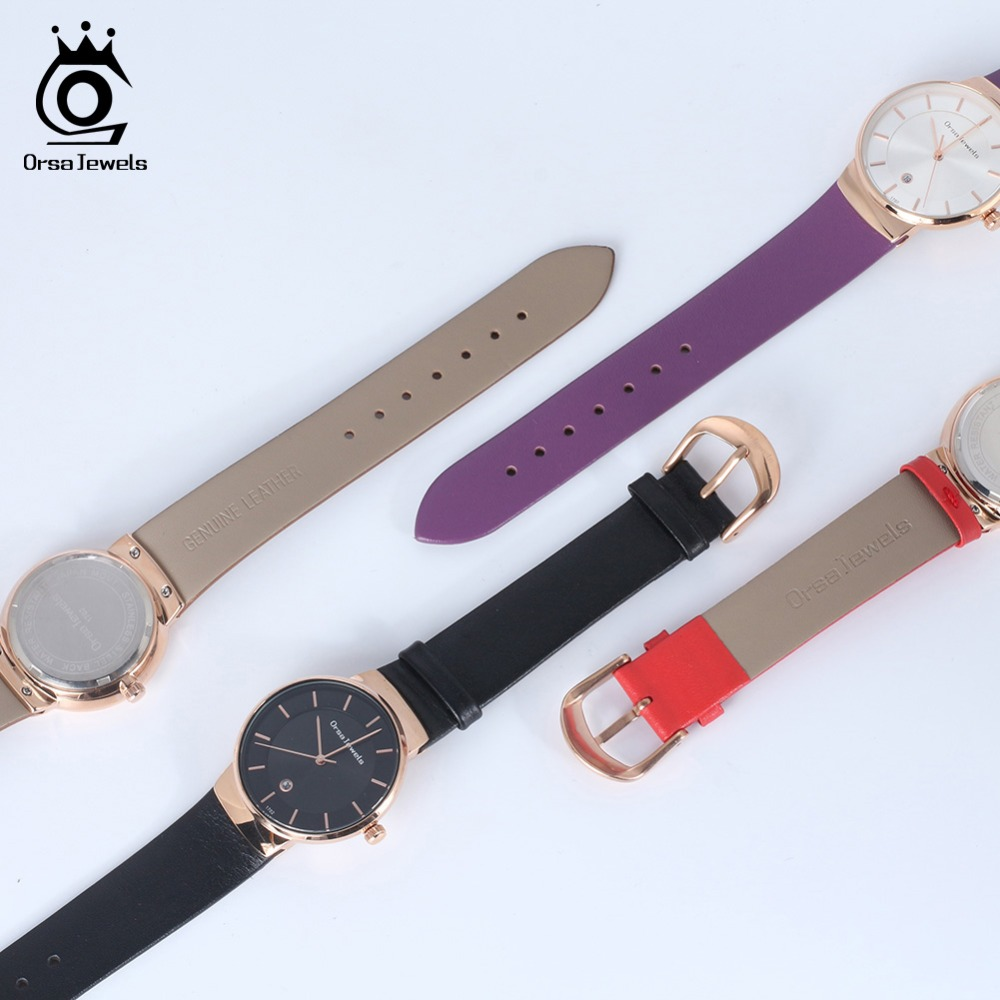 ORSA JEWELS Dress Watch For Women Luxury Fashion 4 Colors Wristwatches Office Ladies Gift Relogio Feminino Jewelry OW04 2