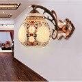Estilo chino Retro Lámpara de Pared de Baño de Pared Led de Luz 110 V 220 v Iluminación Interior Ceramics10W Clásica Hueco Tallado Llevó accesorios