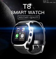 Hot T8 Bluetooth Smart Watch With Camera Music Player Facebook Whatsapp Sync SMS Smartwatch Support SIM