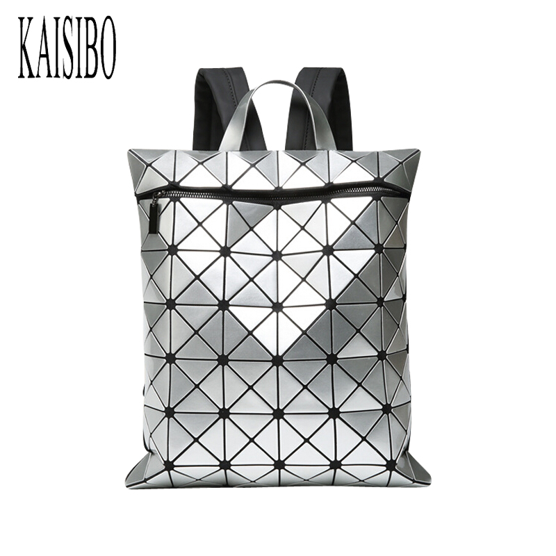 2018 New Women Laser Backpack Geometric Shoulder Bag Hologram Student's School Bag for Teenage Girls Backpacks Silver цена