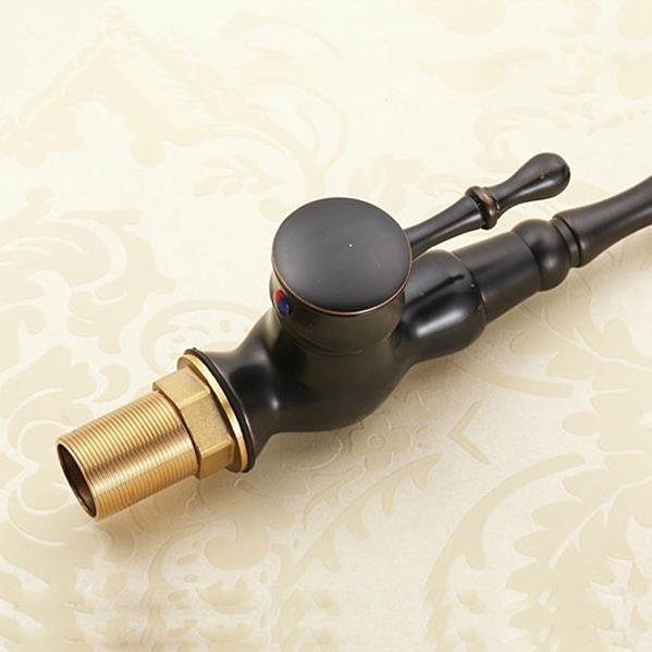 Kitchen Faucet Euro Retro Oil Rubbed Black Bronze Swivel Singe Handle Bathroom Basin Kitchen Deck Mounted Sink Mixer Tap 0146R