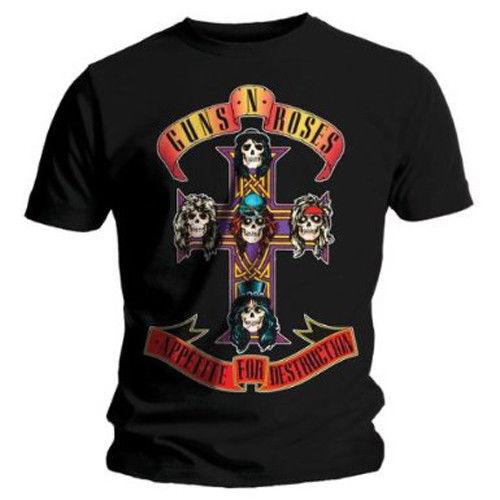 T Shirt 2017 Guns N Roses Appetite For Destruction Shirt S M L XL T-Shirt Official Tshirt New T-shirt Hot Sale Tees