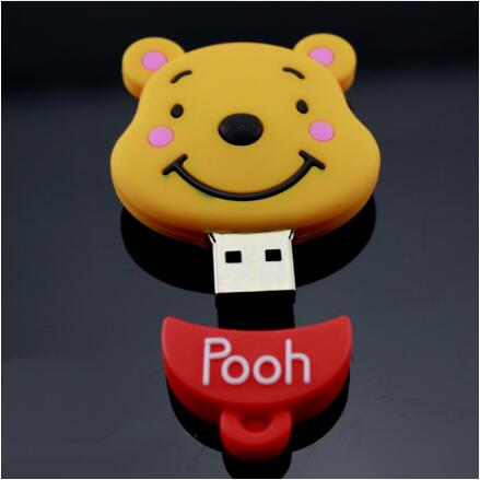 Image 2 - Cartoon Cute The bride and groom teddy bear doll 4G/8G/16G/32G/64G usb flash drive pen drive memory card U Disk Free shipping-in USB Flash Drives from Computer & Office
