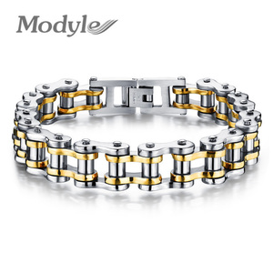 Image 1 - Modyle Biker 316L Stainless Steel Mens Bracelet Fashion Sports Jewelry Bike Bicycle Chain Link Bracelet Casual Jewellery