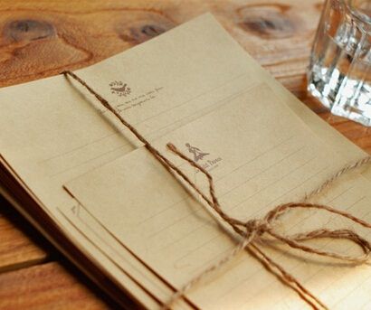Hot selling 210*150mm.retro Japan Nature Art retro Kraft letter paper set with notes.greeting letter paper