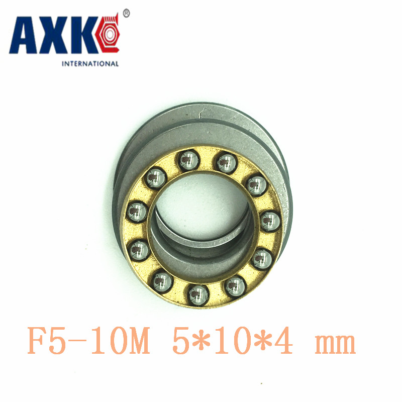 AXK 10pcs Free Shipping Axial Ball Thrust Bearings F5-10m <font><b>5*10*4</b></font> Mm Plane Bearing Abec5 image