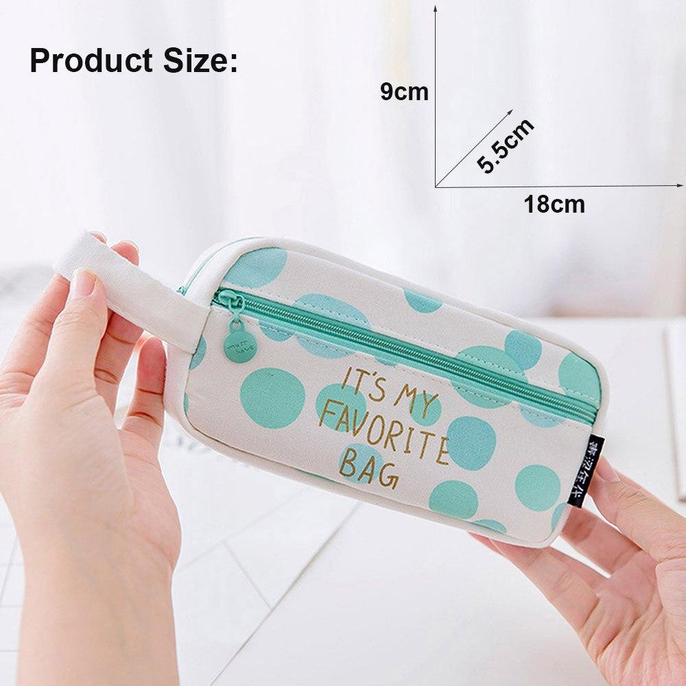 1 StÜck Neue Mode Große Kapazität Leinwand Mäppchen Schreibwaren Pen Box Make-up Schulbedarf Einkaufstasche