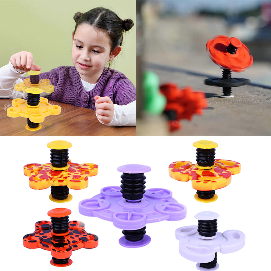 Fidget Spinner Conscientious Gyroscope Toys For Children Kids Funny Bouncing Gyro Fingertip Elastic Bounce Spring Gyro Finger Interval Decompression Toy Hot