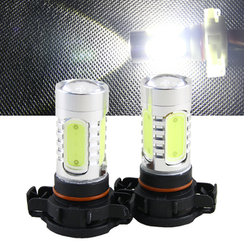 yccpauto car front fog lights drl daytime running light h7 led bulbs high power cob 2000lm white yellow amber auto h 7 lamp 2pcs 2pcs 6000K Xenon White COB 11W LED PSX24W 12276 2504 PG20-7 Bulbs For Fog Lights or Daytime Running Lights Auto led Car Styling