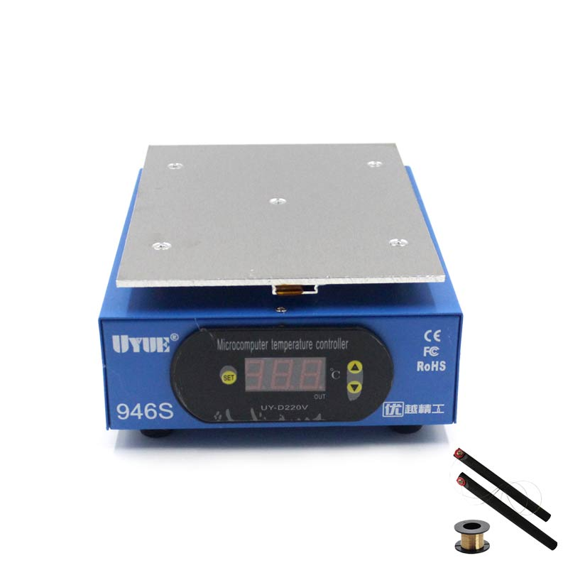 UYUE 946s preheating station 220V 400W 140X200mm LCD Digital Thermostat Platform heating plate for phone repair screen separator