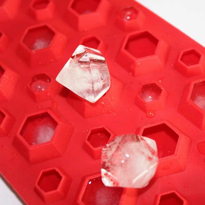 3d Diamanten Edelstein Kühle Eiswürfel Schokolade Seifenschale Mold Silikon Fodant Formen