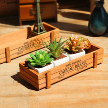 1pc Antique Wooden Table Sundries Container Cosmetics Jewelry Storage Box Home Decor Storage Box Wooden Jewelry Holder