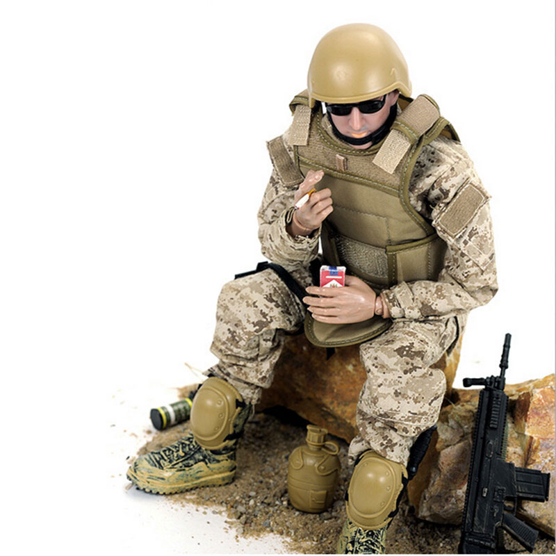 Free Shipping 30cm Simulation Military Model Soldiers Figurine Action Figure Toy Weapon Helmet free shipping super big size 12 super mario with star action figure display collection model toy