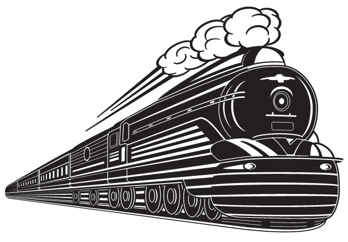 Train Wall Art train wall decals art design vintage removable home decor vinyl
