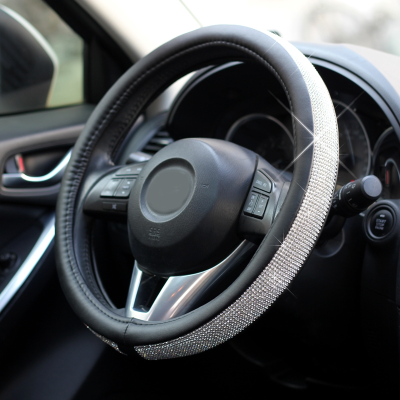 Buy lunasbore steering wheel cover auto for Mercedes benz steering wheel cover