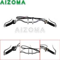 1x Chrome Handlebar Assembly Ural Sidecar Motorcycle Handle Bar Lever Cable Grip Basr For BMW M1M M1S M72 R75 K750 KS750 BW40