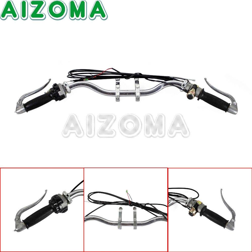 1x Chrome guidon assemblage Ural Sidecar moto poignée Bar levier câble poignée Basr pour BMW M1M M1S M72 R75 K750 KS750 BW40