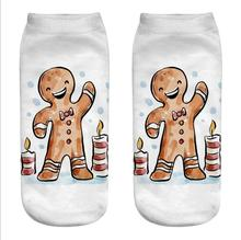 10pair  Socks 3D Cartoon Funny Biscuits Sock Crazy Cute Novelty Print Ankle Socks Breathable Xmas Meias Sox цена