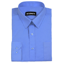 Aoliwen 2019 Men Long Sleeve Flannel Solid Color Casual Dress Shirt white blue male tops price-performance brand shirt Cotton