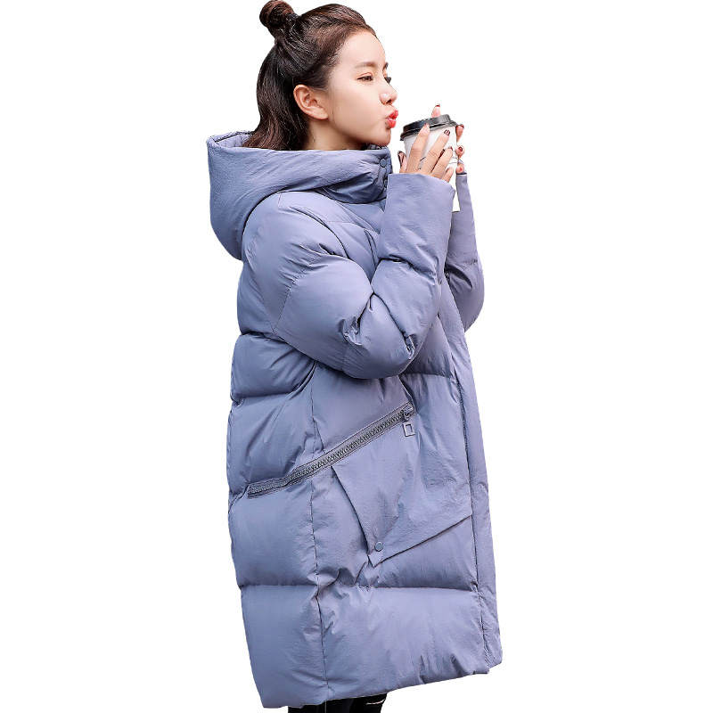 Pregnant Women Winter Jacket New Hooded Loose Cotton Padded Winter Jacket Coat Abrigo Mujer Long Women   Parka   Female Jacket C5047