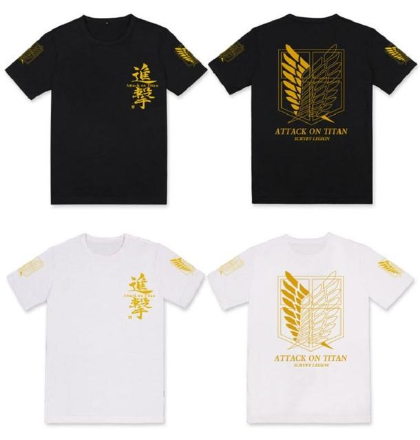 Camiseta de algodón con estampado de anime Attack On Titan