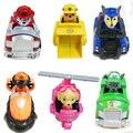 6 PCS Russo Brinquedos Figuras de Ação de Deslizamento Do Carro Patrulha Canina Filhote de Cachorro Dos Desenhos Animados Modelo Boneca Caçoa o Presente Patrulla Canina juguetes