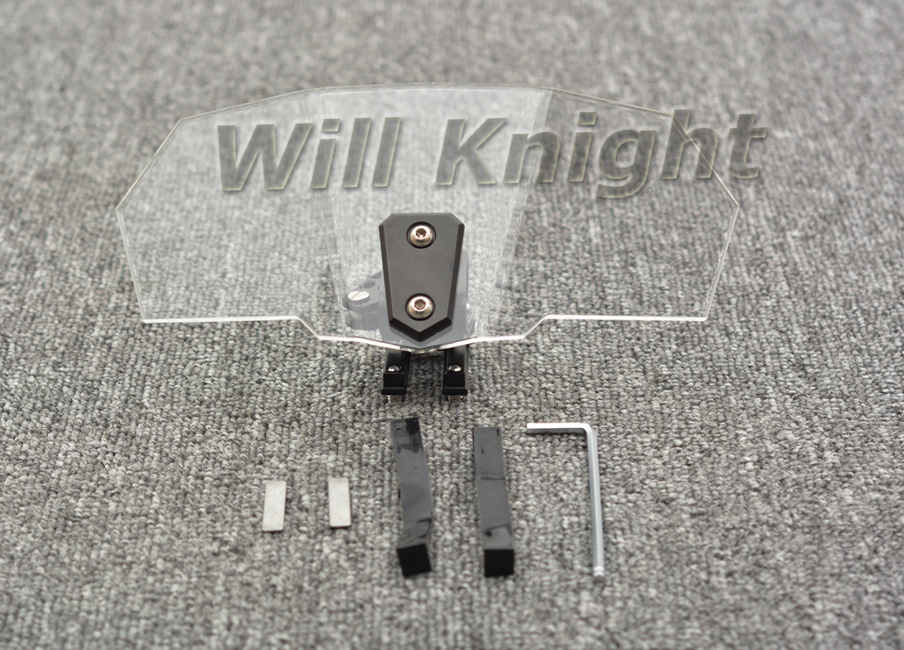 Adjustable Touring Clear Wind Deflector Windshield