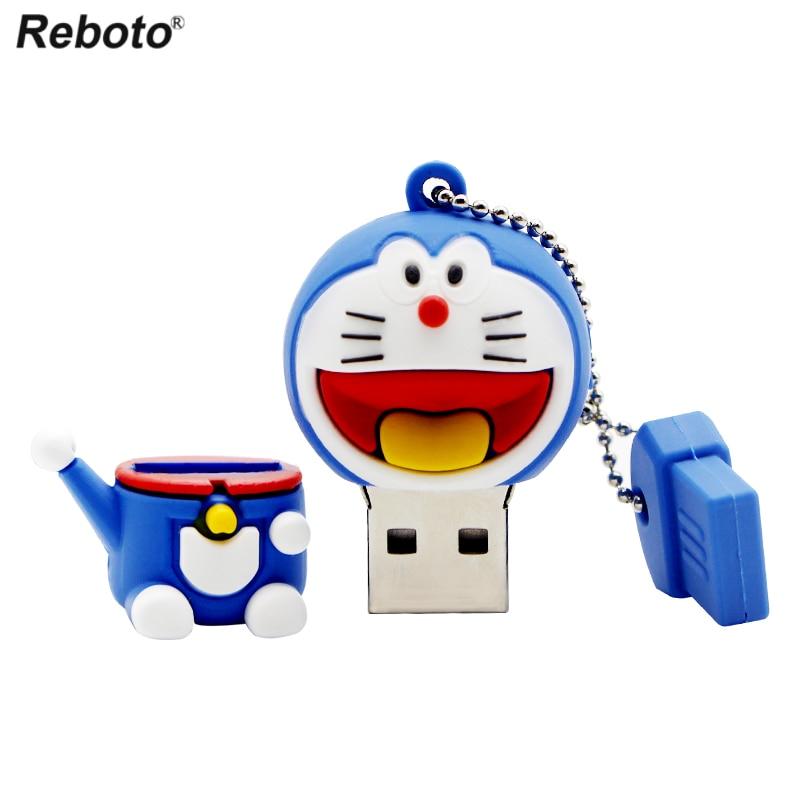 Image 5 - Cartoon USB 2.0 Doraemon USB Flash Drive 64GB Cat Memory Stick 32GB Pen Drive 16GB Pendrive 8GB USB Disk 4GB Thumb Drive-in USB Flash Drives from Computer & Office