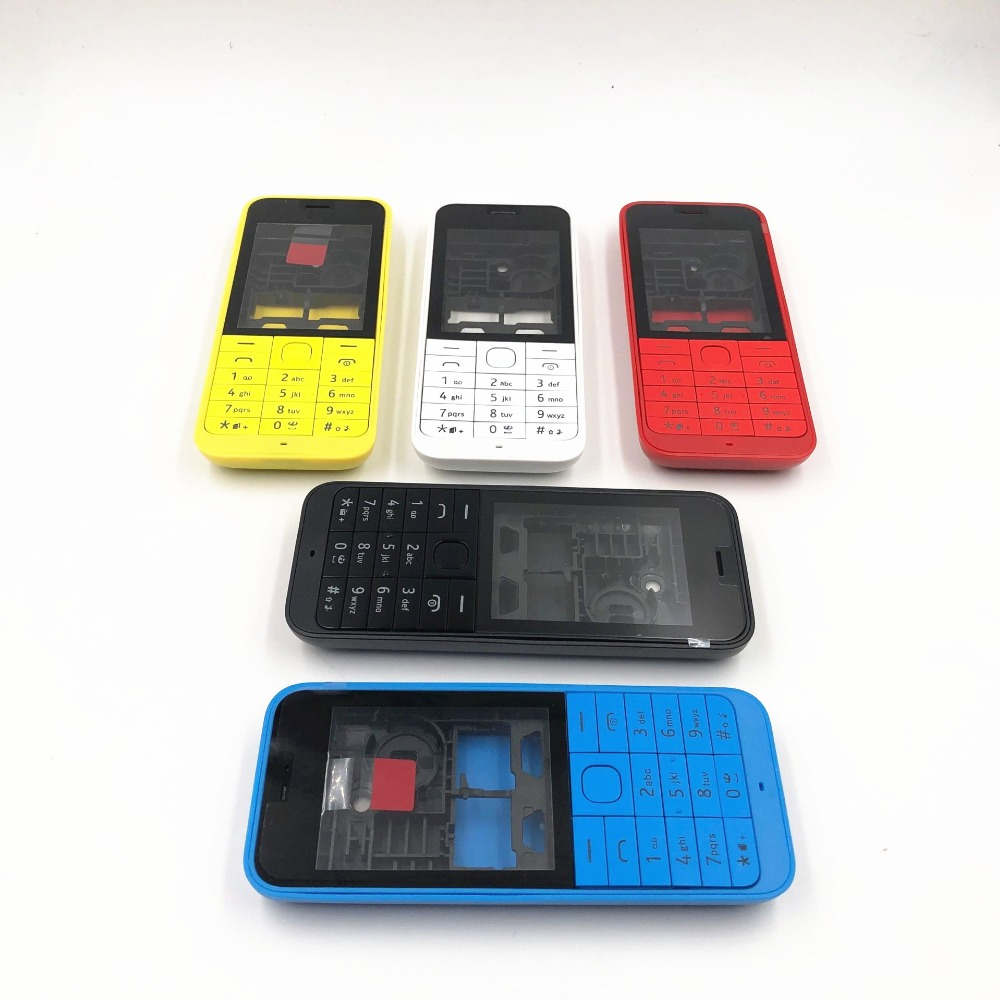 RTBESTOYZ Good quality New Front Middle Frame Back cover Battery Cover For <font><b>Nokia</b></font> <font><b>220</b></font> Full Housing Cover Case +English Keypad image