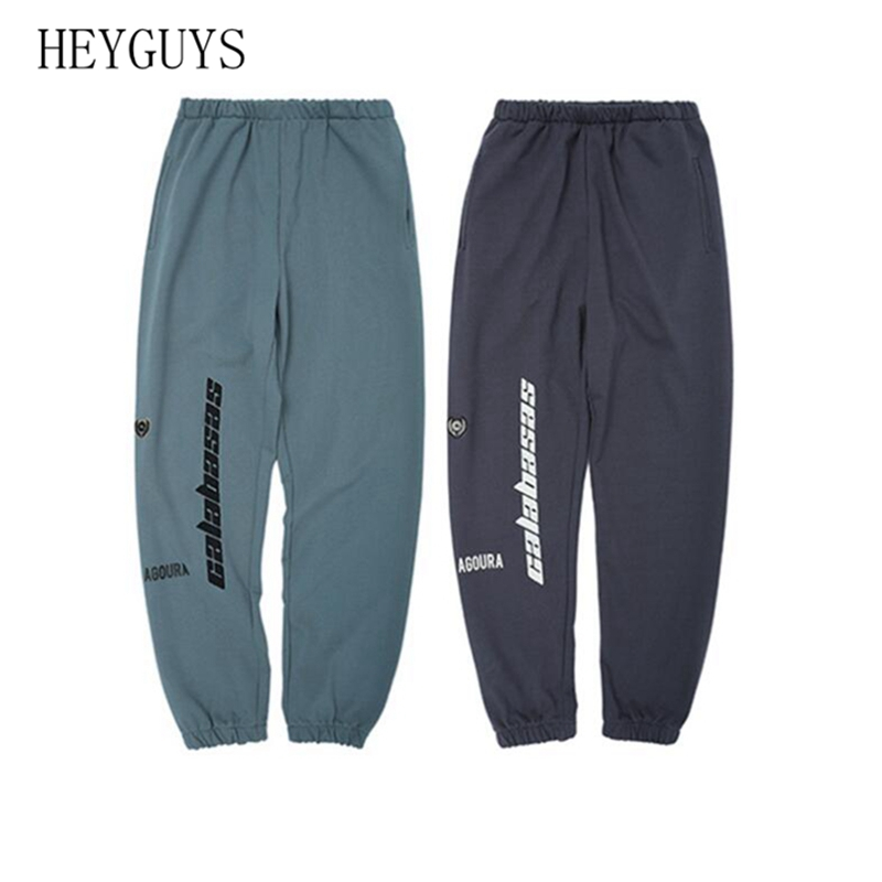 HEYGUYS Cargo Kanye West Season6 CALABASAS Pants Men Hip Hop Fashion Loose Cotton Beam Striped Streak Oversize Sweatpants Men