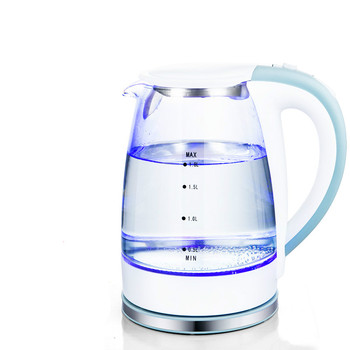 Electric kettle The transparent glass electric is automatically broken by large capacity