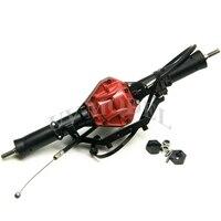 SCX10 Arrière Essieu Avec 4WD Lock Haute Qualité Alliage Arrière Essieu rouge Pour Échelle 1:10 RC Crawler AXIAL SCX10 CC01 F350 RC4WD