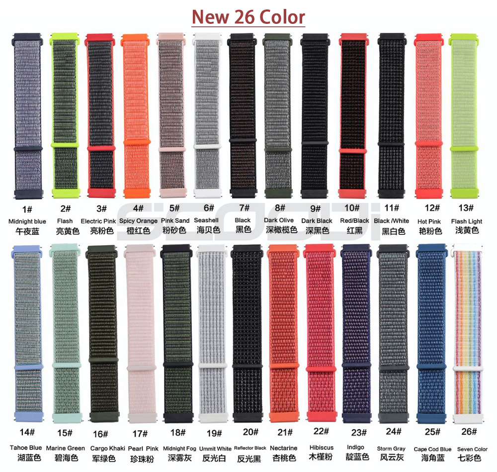 Image 2 - New20mm Nylon Loop Woven Strap for Xiaomi Huami Amazfit Bip BIT Lite Youth Smart Watch Wearable Wrist Bracelet Amazfit Watchband-in Smart Accessories from Consumer Electronics